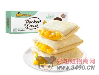 刺猬阿甘口袋吐司菠萝酱心160g