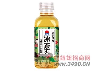 旭日升柚子绿茶茶派