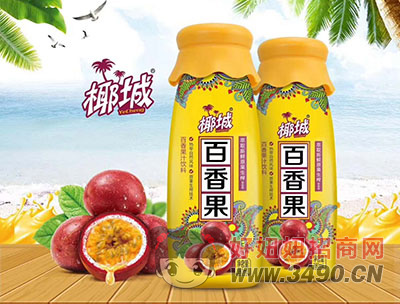 椰城百香果汁�料380ml