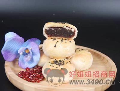 兜旺豆沙月饼实物展示