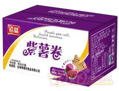 福建��海禧味紫薯卷面包�箱