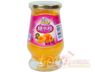 吉爽糖水桃罐头248g