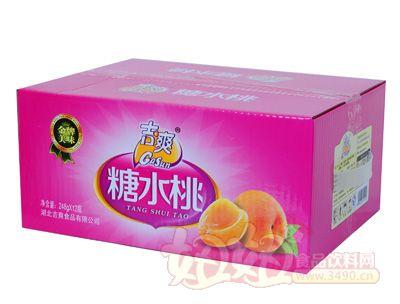吉爽糖水桃罐头248gX12