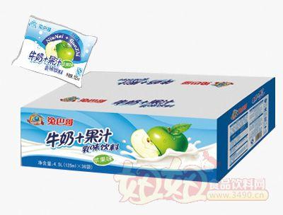 兔巴哥牛奶+果汁苹果味