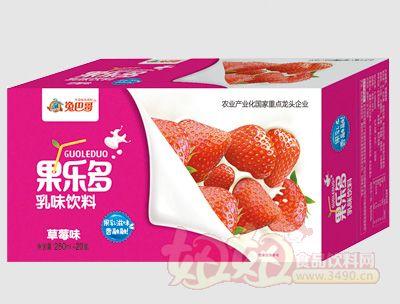 果乐多利乐砖草莓味250mlx20盒