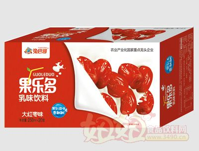 果乐多利乐砖大红枣味250mlx20盒