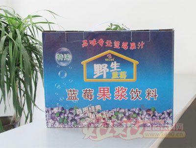 银滩大拇指蓝莓果浆饮料(10瓶蓝箱)