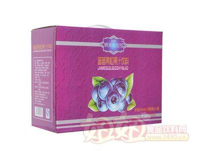 银滩大拇指蓝莓果粒果汁饮料(10瓶紫箱)