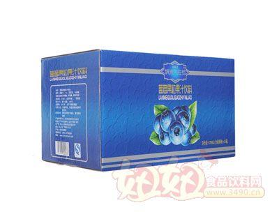 银滩大拇指蓝莓果粒果汁饮料(15瓶蓝箱)