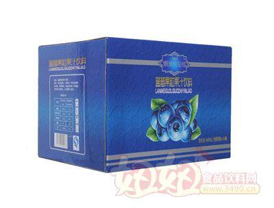 银滩大拇指蓝莓果粒果汁饮料(20瓶蓝箱)
