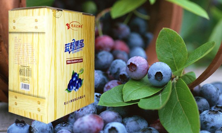 银滩大拇指蓝莓果浆箱装
