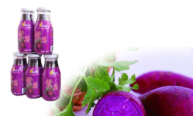 银滩大拇指紫薯饮料