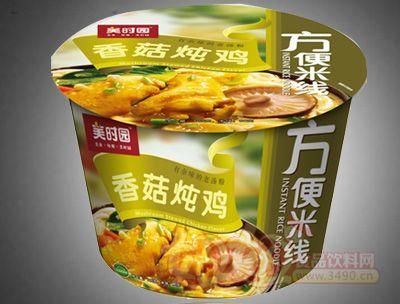 香菇炖鸡方便米线桶装
