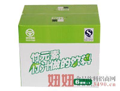 恒源竹元素竹汁饮料易拉罐六连装纸箱