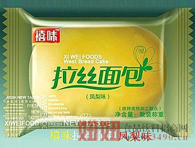 福建龙海禧味拉丝面包凤梨味