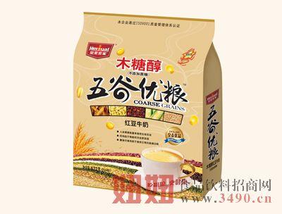 皇麦世家木糖醇五谷优粮672g-红豆牛奶