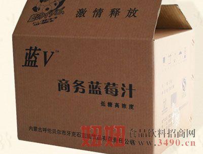 蓝v牛皮纸箱子
