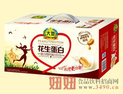 大地250mlX20盒花生植物蛋白饮品
