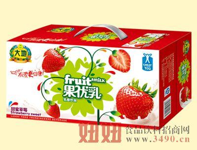 大地250mlX20盒甜蜜草莓果优乳