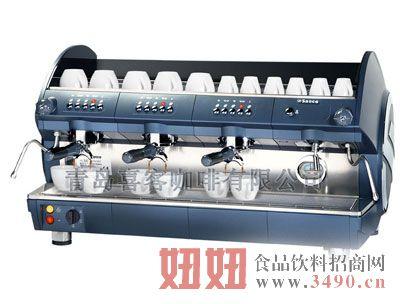 喜客咖啡机商用专业型三头