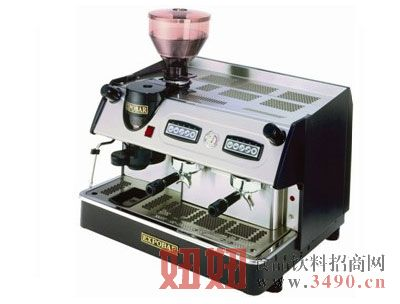 西班牙双头香浓咖啡机连磨豆器