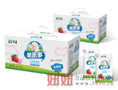 顶羊草莓味自立袋-酸羊奶