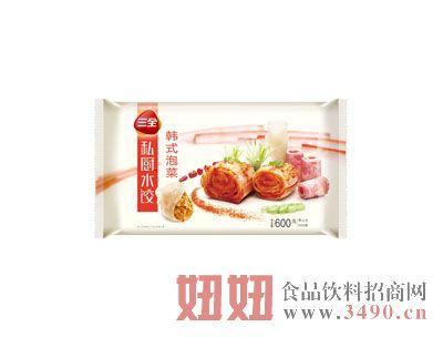 600克三全私厨水饺韩式泡菜馅
