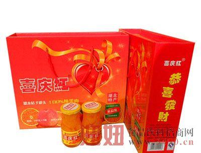 喜庆红桔片爽五八口245g-6瓶礼盒装