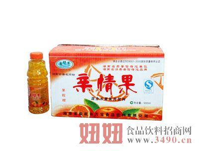 亲情果橘子汁500ml