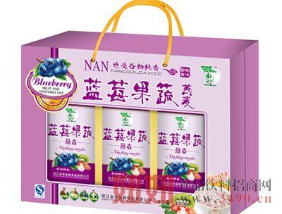 蓝莓果蔬燕麦开窗礼盒装400克