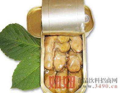 烟熏牡蛎罐头