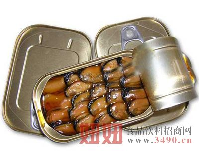 烟熏贻贝罐头