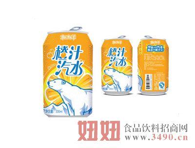 北冰洋橙汁汽水听装330ml