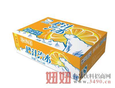 北冰洋橙汁汽水330ml×24听