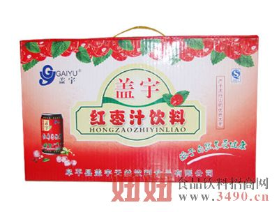 盖宇红枣汁饮料礼盒