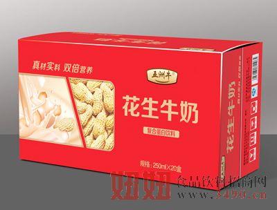 五洲牛花生牛奶250ml×20盒