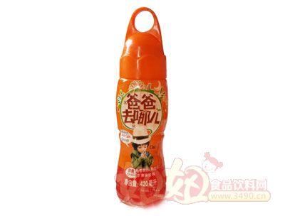 爸爸去哪儿420ml甜橙果汁