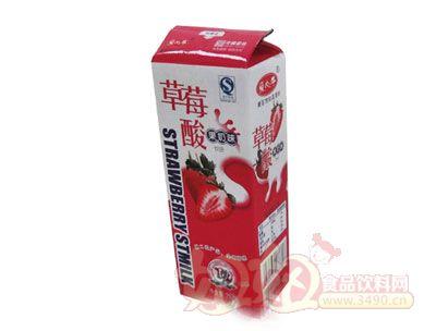 草莓酸果奶味饮品215ml