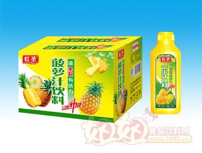 红圣菠萝汁饮料