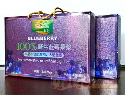 100%野生蓝莓果浆礼品包装盒