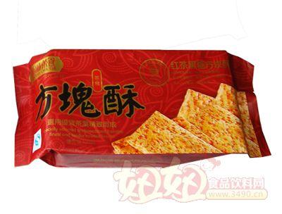 新味30g方�K酥-�t茶黑糖方�K酥