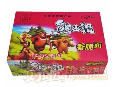 翔波熊出没香烤鸡翅味香脆面1×48包