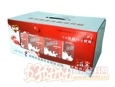 福淋大红枣乳酸菌果味饮料箱装