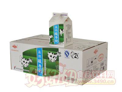 福淋高钙酸牛奶350gx15箱装