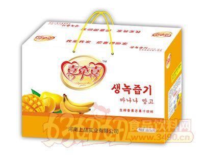 喜牵喜生榨香蕉芒果汁饮料308ml×10