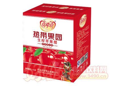 喜牵喜热带果园生榨苹果醋1L×6盒