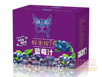 上上�聪使�榨汁蓝莓汁960ml×6罐