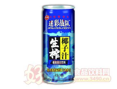 迷彩战队生榨椰子汁罐装