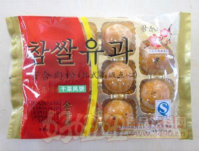 美玲金?#33756;?#30334;合肉松干菜风饼韩式高级点心250g