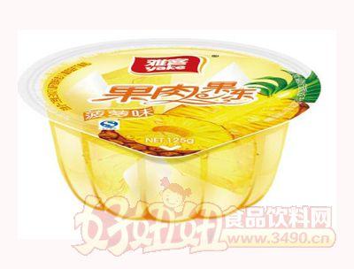 雅客果肉果冻菠萝味125g